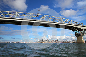 Auckland City And Harbour Bridge Royalty Free Stock Image - Image: 25635266