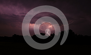 Lightning In July Royalty Free Stock Image - Image: 25637136