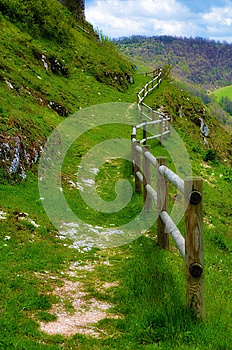 Path With Fence Royalty Free Stock Photo - Image: 25637935