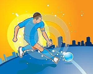 Football Player Royalty Free Stock Image - Image: 25639416