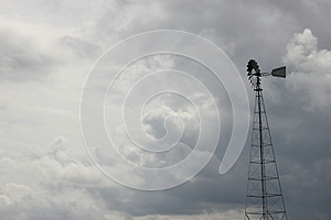 Stormy Skies And Windmill Royalty Free Stock Photography - Image: 25640167