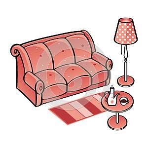 Set Of Furniture Royalty Free Stock Photos - Image: 25642508