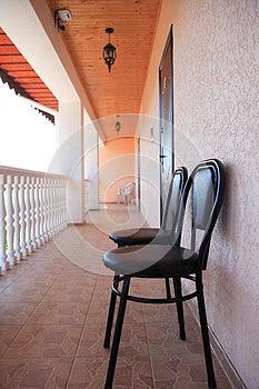 Hotel Veranda Royalty Free Stock Photography - Image: 25643487