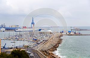 France. Sete.  An Output From  Port To The Gulf Stock Photography - Image: 25643612