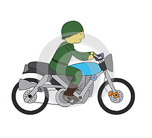 Soldier Riding Motorcycle Stock Images - Image: 25652644