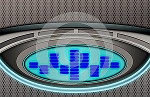Metal Spectrum Display Background Stock Images - Image: 25654504