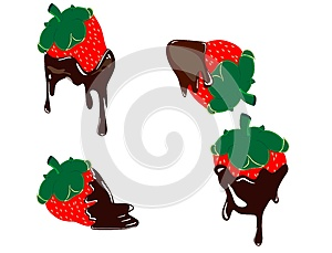 Strawberry Dripping With Fondue Chocolate Royalty Free Stock Photos - Image: 25660738