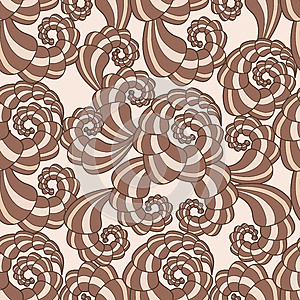 Vector Seamless Pattern With Spirals Stock Image - Image: 25662151