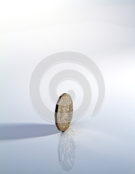 Side Of Silver Coin Royalty Free Stock Photography - Image: 25662647