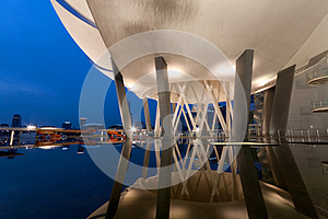 ArtScience Museum During Blue Hour Stock Photography - Image: 25663932