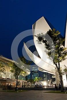 Landmarks In Singapore At Dusk Royalty Free Stock Photos - Image: 25663958