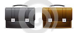 Briefcase_black_brown Stock Image - Image: 25675731