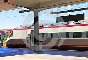 High Speed Train In Toledo Royalty Free Stock Photography - Image: 25681177
