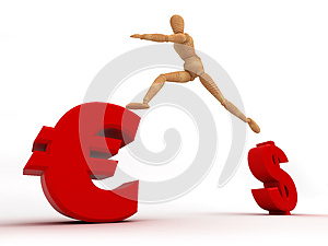 Change Currency (With Clipping Path) Royalty Free Stock Images - Image: 25683059