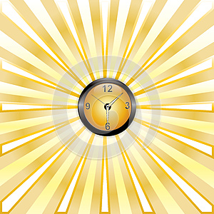 Clock Whit Rays Stock Photography - Image: 25690922