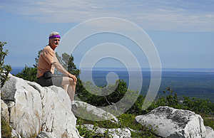 Sitting High Above Killarney Provincial Park Stock Photos - Image: 25695853