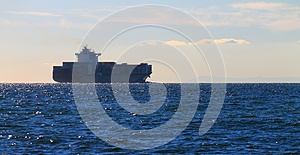 Cargo Ship In Port Phillip Bay Royalty Free Stock Photography - Image: 25696267