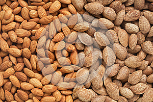 Healthy Food, Background. Almonds Stock Photos - Image: 25698283