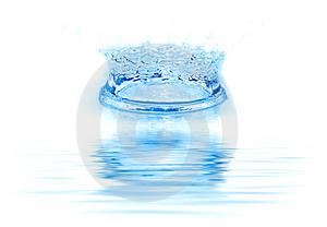 Frozen water drop. Royalty Free Stock Images