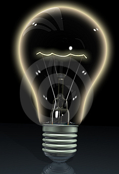 Black lightbulb Stock Photos
