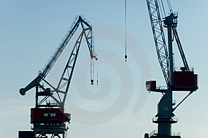 Two Cranes Stock Image - Image: 2578831