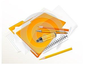 Folder & Stationery Stock Image - Image: 25707971