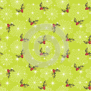 Pattern With Snowflakes Stock Image - Image: 25727131