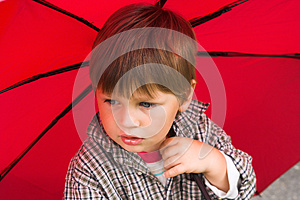 Boy With The Umbrella Stock Photography - Image: 25737442
