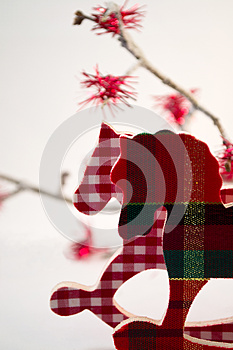 Wooden Christmas Horses Royalty Free Stock Photos - Image: 25737828