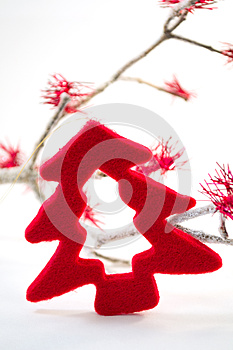 Red Christmas Tree Decoration Stock Image - Image: 25737861