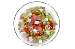 Ceasar Salad With Rusks Royalty Free Stock Image - Image: 25744576