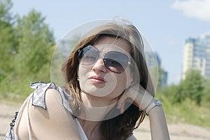Beautiful Woman In Sunglasses Stock Image - Image: 25745941