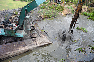 Dredging The Canal Stock Photo - Image: 25750660