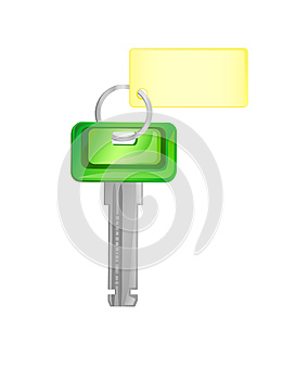 Groene Sleutel Royalty-vrije Stock Foto - Afbeelding: 25751315