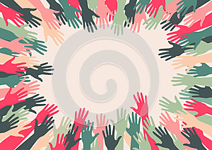 Retro Abstract Hands With Copy Space Stock Images - Image: 25753174