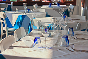 Table Setting At Restaurant Royalty Free Stock Photos - Image: 25755328