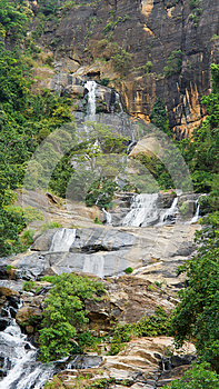 Waterfall Cascading Down Mountainside Royalty Free Stock Image - Image: 25755756