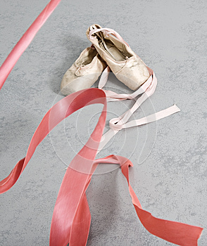 Old Ballet Shoes Stock Images - Image: 25759944