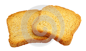 Toasted Bread Isolated Stock Image - Image: 25770141