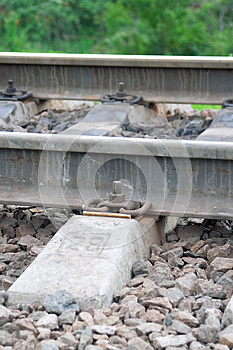 The Rails And Sleepers Stock Images - Image: 25773994