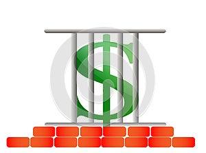 Incarcerated Dollar Royalty Free Stock Photos - Image: 25777268