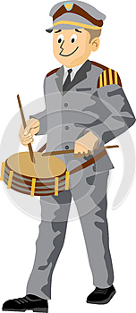 Fanfare Drummer Royalty Free Stock Photo - Image: 25784355