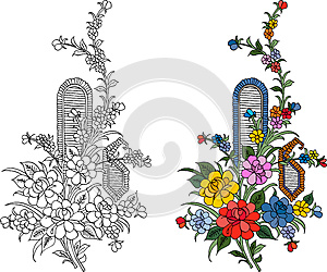 Indian Textile Motif Stock Photos - Image: 25786943