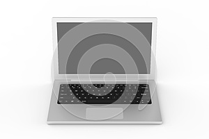 Notebook From Front View Stock Images - Image: 25789724