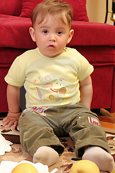 Little Blond Baby Boy Stock Photos - Image: 2582423