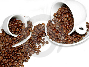 Scatter coffee Stock Image