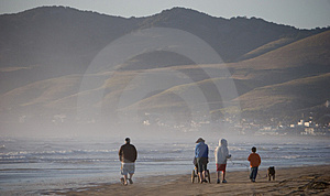 Family Walking On Beach Royalty Free Stock Image - Image: 2588006
