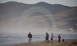Family Walking On Beach Royalty Free Stock Image - Image: 2588006