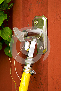 An Outdoor Water Tap Royalty Free Stock Photo - Image: 25803115