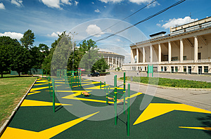 Sports Gymnastic Ground On The Street Stock Image - Image: 25804201